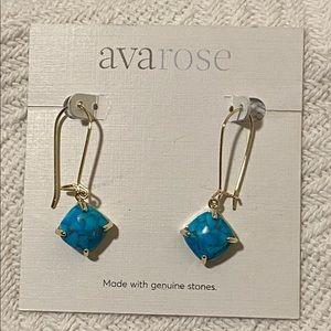 Genuine stone earrings